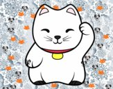 Maneki-neko branco