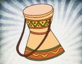 Desenho Tambor africano pintado por Craudia