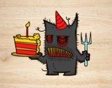 Bolo de aniversário do monstro