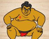 Lutador de sumo furioso