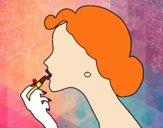 Maquiagem dos lábios