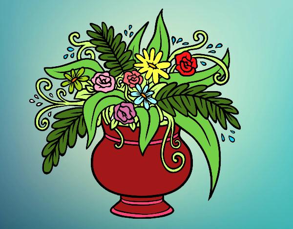 Desenho Um vaso com flores pintado por Bianca99