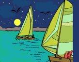 Desenho Velas em alta mar pintado por ceciliaz