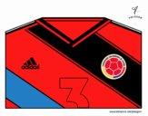 Camisa da copa do mundo de futebol 2014 da Colômbia