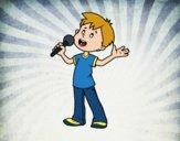 Criança cantando
