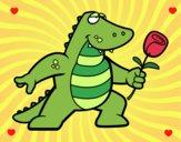 Desenho Dragão apaixonado pintado por fifi08