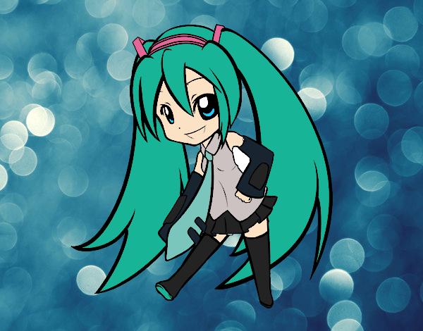 Desenho Hatsune Vocaloid pintado por Bianca99
