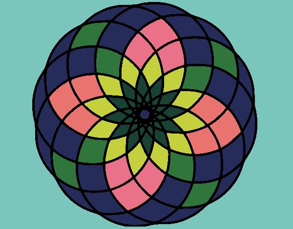 Desenho Mandala 4 pintado por ceciliaz