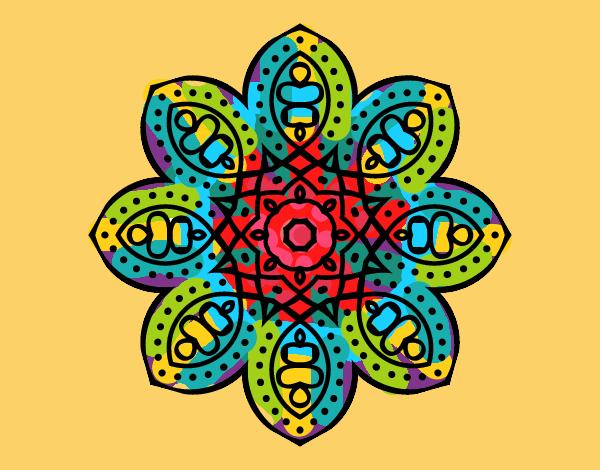 Desenho Mandala árabe pintado por ceciliaz