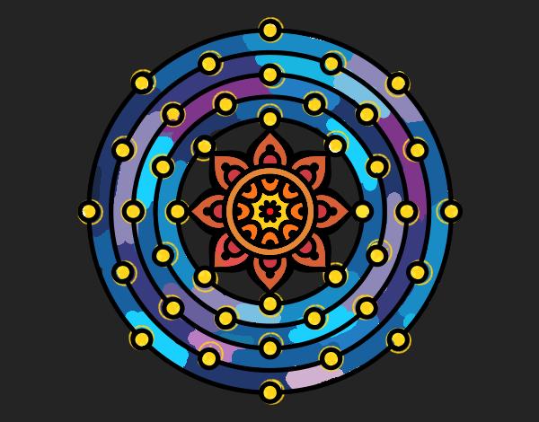 Desenho Mandala sistema solar pintado por ceciliaz
