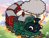 Desenho Trem sorridente pintado por Craudia