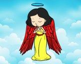 Desenho Um anjo a orar pintado por Jujuli