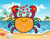 Um caranguejo de mar