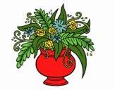 Desenho Um vaso com flores pintado por Jujuli