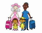 Desenho Uma família de férias pintado por Jujuli