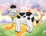 Desenho Vaca de fazenda pintado por Craudia