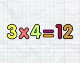 3 x 4