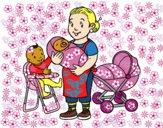 Desenho Babysitter pintado por Jujuli