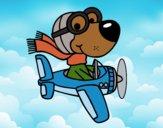 Desenho Cachorro aviador pintado por Craudia