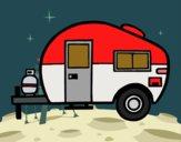 Desenho Caravana moderna pintado por Craudia