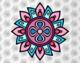 Mandala flor simple