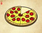 Desenho Pizza italiana pintado por Gabi_OPO