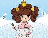 Desenho Princesa de inverno pintado por Craudia