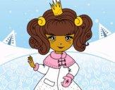 Desenho Princesa de inverno pintado por Jujuli