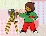 Desenho Um artista pintado por Jujuli