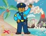 Desenho Um polícia pintado por ImShampoo