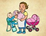 Desenho Babysitter pintado por Craudia