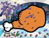 Desenho Coxa de frango pintado por Josemigue