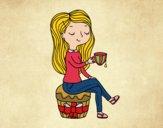 Desenho Hora do chá pintado por Craudia