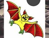 Desenho Morcego cão pintado por kushina22