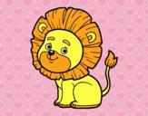 Desenho Leão jovem pintado por Jujuli