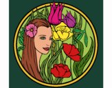 Desenho Princesa do bosque 3 pintado por Craudia