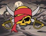 Desenho Símbolo pirata pintado por Craudia