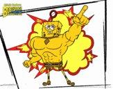 Desenho Bob Esponja - Invencibolha pintado por luzinda
