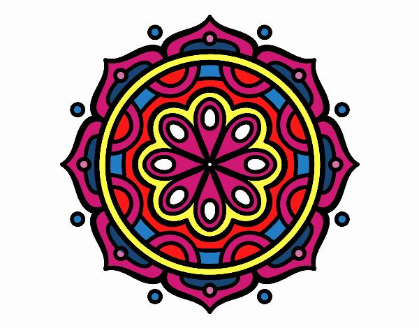 Desenho Mandala para meditar pintado por luzinda