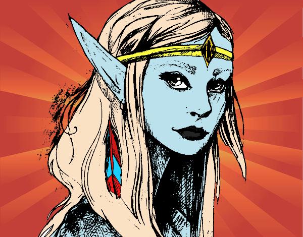 Desenho Princesa elfo pintado por Anna_blogs