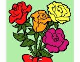Desenho Ramo de rosas pintado por Craudia