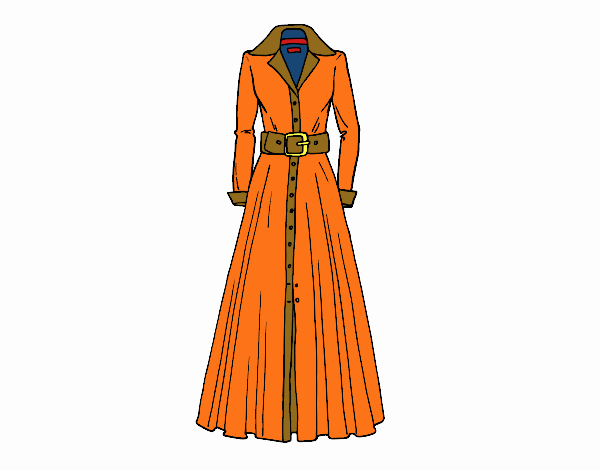 Desenho Vestido camiseiro pintado por luzinda
