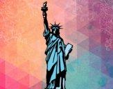 Desenho A Estátua da Liberdade pintado por LadyMcm