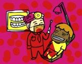 Dentista com paciente