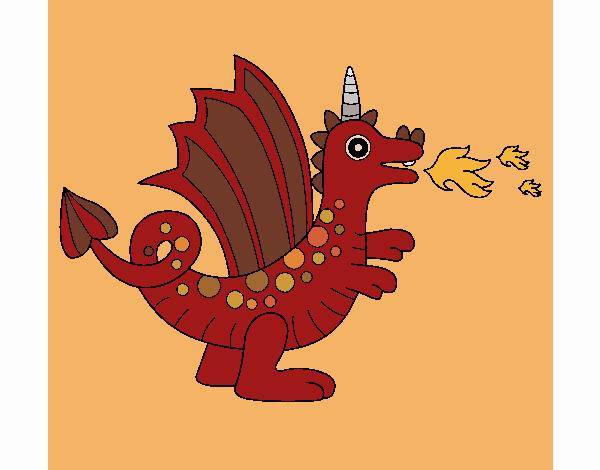 Desenho Dragão alegre II pintado por Craudia