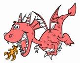Dragão que cospe fogo