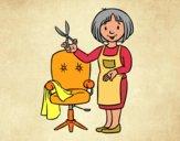 Desenho Estilista cabeleireira pintado por ANALUMA