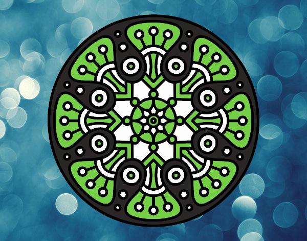 Desenho Mandala crop circle pintado por Craudia