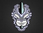Desenho Máscara robô pintado por LadyMcm