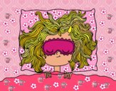 Desenho Menina de sono pintado por ANALUMA